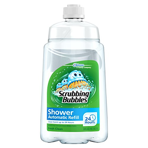 Scrubbing Bubbles Automatic Cleaner (Scrubbing Bubbles Auto Shower Cleaner, Fresh Scent Refills (Pack of 6))