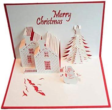 Christmas Greetings Letter.Handmade 3d Three Dimensional Christmas Castle Christmas