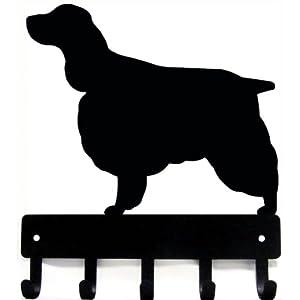 The Metal Peddler English Springer Spaniel Key Rack Dog Leash Hanger - Small 6 inch Wide 1