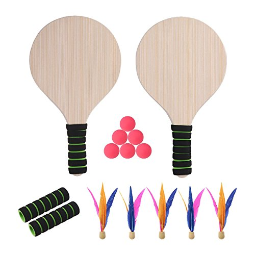 VORCOOL Paddle Ball Game Beach Tennis Pingpong Cricket Badminton Racket Paddles Set Indoor Outdoor Racquet Game by VORCOOL