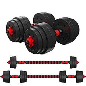 Well-Being-Matters 41pq%2BslnFvL._SS300_ Zoogamo Adjustable Weight Dumbbells Set to 88Lbs, Free Weight Dumbbell with Connecting Rod Used As Dumbbell Barbell Set…