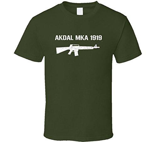 Akdal Mka 1919 Shotgun Military Distressed T Shirt Military Green