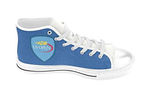 Man Hoge Schoenen Mannelijke Canvas Sneaker Voor Ons Open Tennis Logo White03