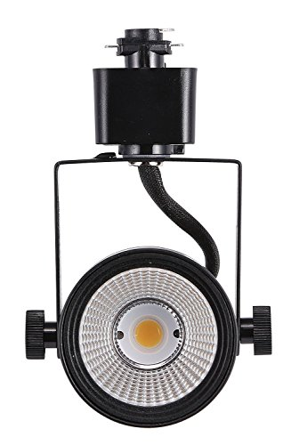 Cloudy Bay LED Track Light Head,CRI 90+ Warm White Dimmable,Adjustable Tilt Angle Track Lighting Fixture,8W 40° Angle for Accent Retail,Black Finish Halo Type