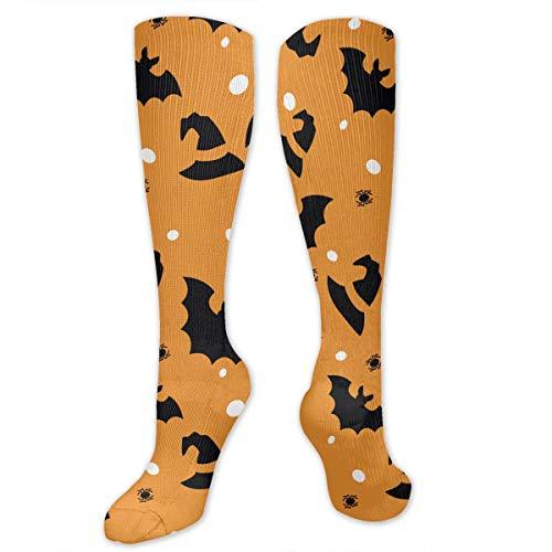 GOD TRUST Men&Women Halloween Bat Spider Knee High Socks Warm Over Boots Stocking Trendy Long Socks ()