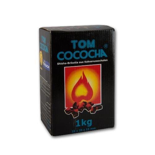 Tom Cococha blau 3kg Schrift Naturkohle Shishakohle kleine W/ürfel
