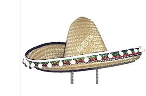 2019 Halloween Cosplay Costume Hawaii Mexico Big Large Brim Straw Hat Cap Khaki -