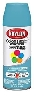 Krylon K05356902 ColorMaster Paint & Primer Spray Paint, Island Splash Satin, 12 Ounce