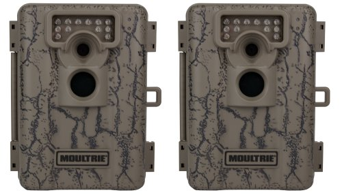 (2) MOULTRIE Game Spy A-5 Low Glow Infrared Digital Trail Hunting Cameras - 5 MP