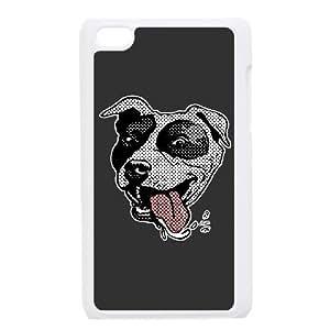 iPod Touch 4 Case White Love a bull Hug a bull and Kiss a bull PitBull IYV Plastic Phone Case Sports