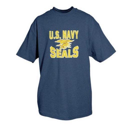 Fox Outdoor 64-45 XL US Navy Seals T-Shirt, Navy Blue - Extra Large
