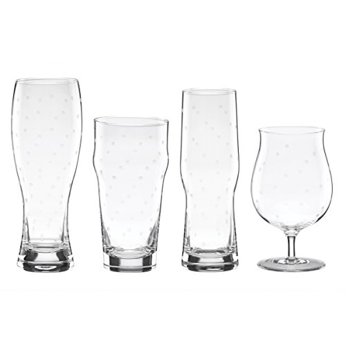 kate spade new york Larabee Dot 4-Piece Variety Beer Glass - Kate Polka Glasses Dot Spade