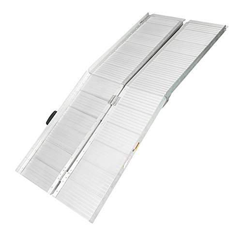 BuyHive 8FT Aluminum Wheelchair Ramp Scooter Gateway Access Loading Stair Threshold Ramps