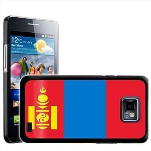 Fancy A Snuggle - Carcasa rígida para Samsung Galaxy S2 i9100, diseño de la bandera de Mongolia