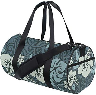 ボストンバッグ ビンテージのハイビスカスの花 ジムバッグ ガーメントバッグ メンズ 大容量 防水 バッグ ビジネス コンパクト スーツバッグ ダッフルバッグ 出張 旅行 キャリーオンバッグ 2WAY 男女兼用