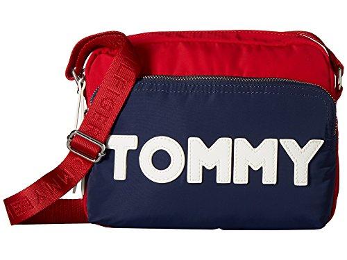 Tommy Hilfiger Women's Tommy Nylon Crossbody Navy/Red One Size