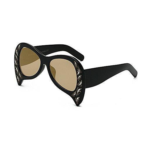 forme Surdimensionné lunettes Soleil Marron rétro de Femmes de Pour UV Objectif Balle Soleil Lunettes élégant Spéciale en PC Lady de Lunettes Personnalité Pour Style Conduir Paon unisexe Protection de Soleil 06qzwwA
