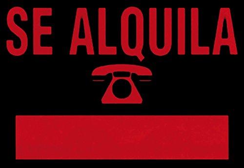 ROTULAUTO Cartel Plast Se Alquila Rojo Rotulauto 700X500 Mm