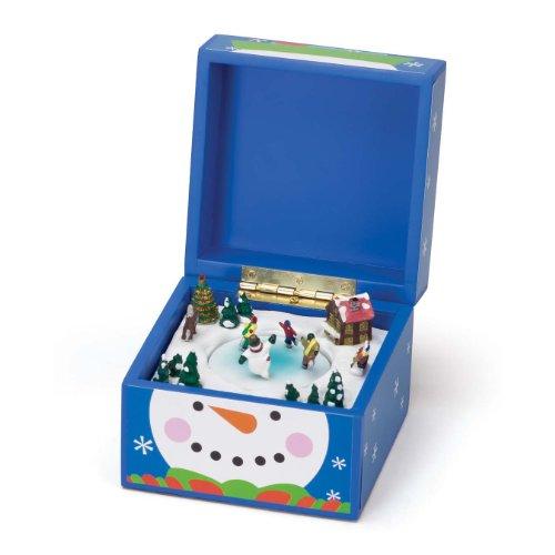 Mr. Christmas Pom Pom Music Box, Snowman