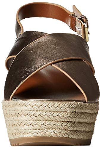 a9c293b671b Naturalizer Women's Oak Espadrille Wedge Sandal Light Bronze 9 M US