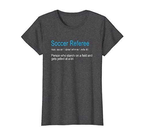 Womens Best Hilarious Soccer Referee Definition Funny Gift T-Shirt Medium Dark Heather
