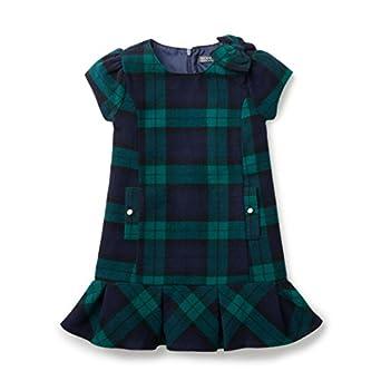 Vintage Style Children's Clothing: Girls, Boys, Baby, Toddler Hope & Henry Girls Green and Blue Plaid Flounce A-Line Dress $24.95 AT vintagedancer.com