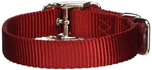 Hamilton 5/8-Inch by 14-Inch Single Thick Nylon Deluxe Dog Collar, Red