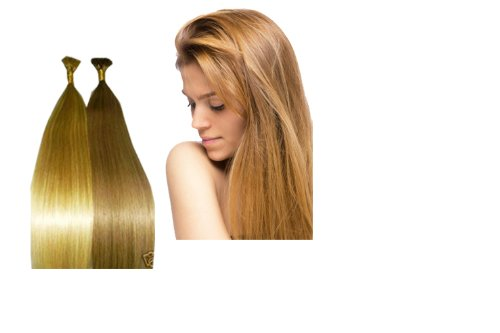 "Pre-Tipped I-Tip Human Hair Extensions European Remy 18"" Natural Silky ""AAA"" Grade 100 Strands 0.65 Gr. Choice of Color -  The Hair Extension Boutique, 1038A"