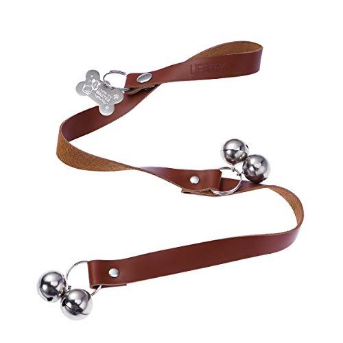 UEETEK Leather Dog Doorbells for Housetraining - Easy to Hear Door Bells for Housebreaking and Training Your Puppy