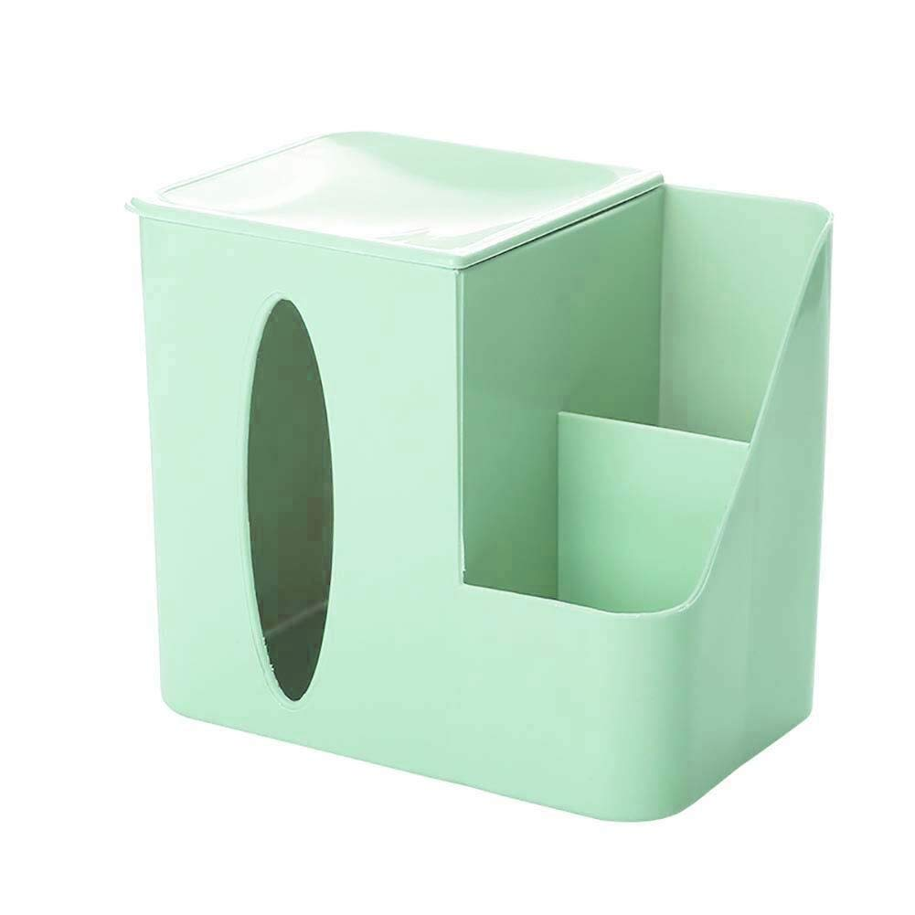 HapHomeSPus Multi Function Facial Tissue Cube Box Desktop Drawers Paper Stand Stationery Storage Box Home Office Lavatory Automotive Decoration (Color : Green, Size : 191217cm) by HapHomeSPus