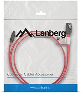 LANBERG CABLE SATA III 50 CENTAMETROS CA-SASA-12CU-0050-R CONECTOR EN ANGULO