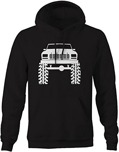 1980's 90's Ford Bronco Lifted Mud Tires Truck Sweatshirt - 2XL