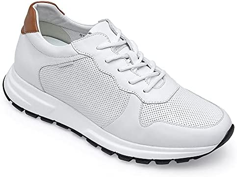 41pq3G%2B9L3S. AC GOLDMoral Men Shoes Elevator for Man Men's Fashion Sneakers Mens White Leather Running    Product Description