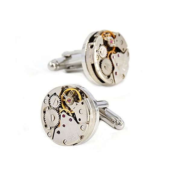 MERIT OCEAN Movement Cufflinks Steampunk Watch Mens Shirt Vintage Watch Cuff Links Business Wedding Gifts 3