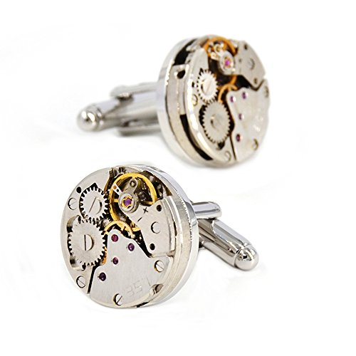 Merit Ocean Movement Cufflinks Steampunk Watch Mens Shirt Vintage Watch Cuff Links Business Wedding Gifts With Gift Box