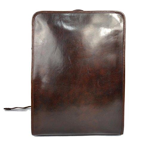 Mochila de cuero marron oscuro bolso de hombre piel mochila grande duro de piel bolso de espalda bolso bandolera de cuero...