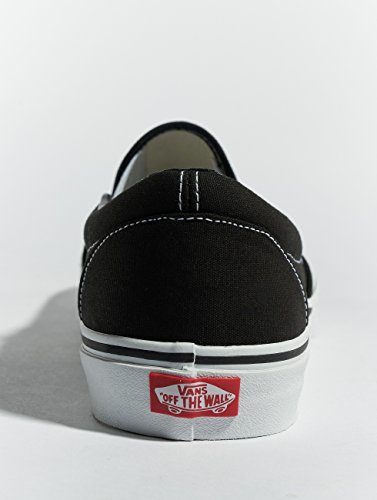 Unisex on Classic Canvas Slip black Vans Adults' white Trainers wd7qS46x