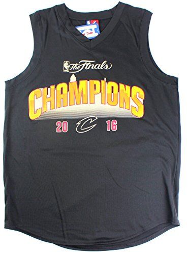 Majestic LeBron James Cleveland Cavaliers #23 Men's 2016 The Finals Champions Skyline Jersey Black (Xlarge) ()