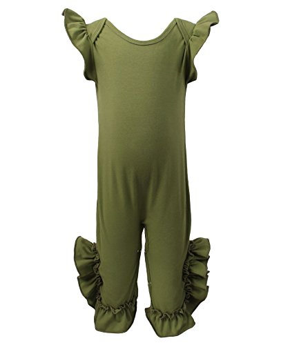 7 Sisters Clothing Baby Ruffle Romper (2/3y, Army Green) for $<!--$18.00-->