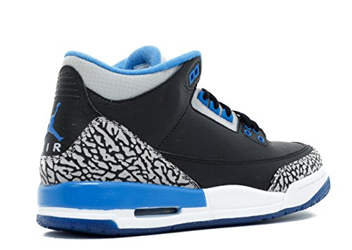 Nike Air Jordan 3 Retro Gs black/sport blue-wolf grey