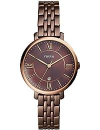 Women's 'Jacqueline' Quartz Stainless Steel Casual Watch, Color:Brown (Model: ES4275)
