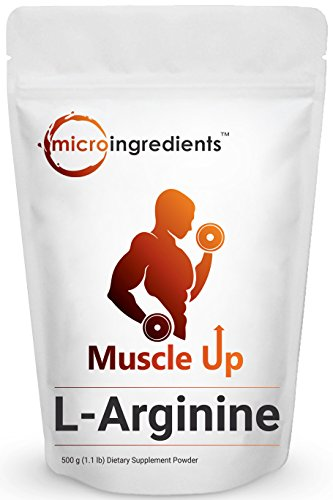 Arginine Powder - Pure L-Arginine Powder, 500 Grams, Natural Nitrate Booster to Powerfully Promote Muscle Growth & Endurance. Non-Irradiated, Non-Contaminated, Non-GMO and Vegan Friendly.