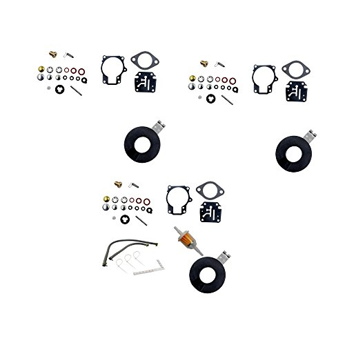 DEF Carb Repair Kit for Evinrude Johnson Dual 0398729 0396701 0392061  Mallory 9-37107 Sierra 18-7222 Horse Power 18 20 25 28 30 35 40 45 48 50 55  60