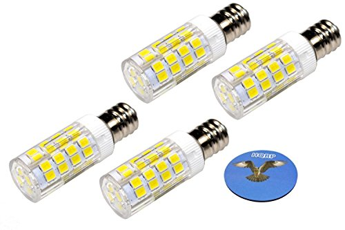 HQRP 4-Pack E12 110V LED Light Bulb Cool White for Ceiling Fan, Chandelier, Indoor Lighting, Drill Press plus HQRP Coaster by HQRP