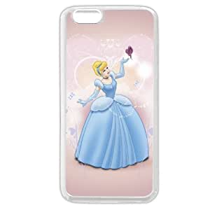 """Customized White Soft Rubber(TPU) Disney Princess Cinderella iPhone 6 Plus Case, Only fit iPhone 6+ 5.5"""" hjbrhga1544"""