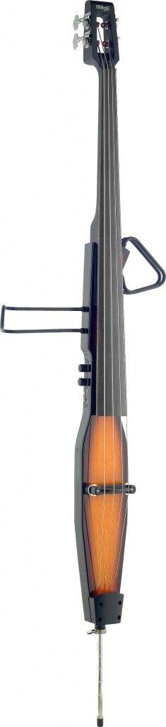 Lucky Penny EDB-VBR Violin Burst 3/4 Size Electric Upright Double Bass w/Gig Bag