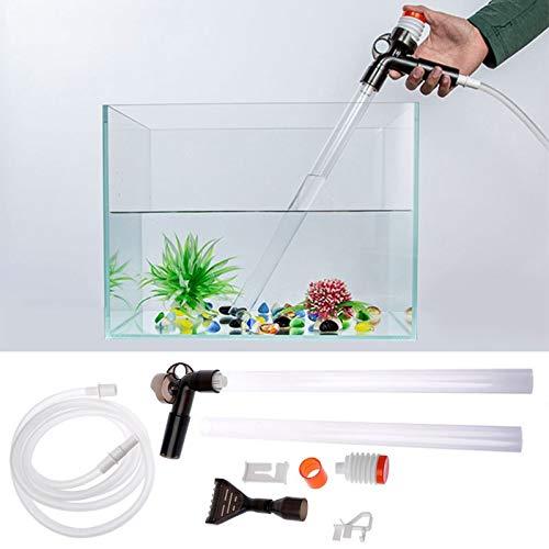 Toilet Cleaner - Practical Aquarium Fish Tank Cleaner Quick Release Vacuum Siphon Pump Drainer Gravel Water Filter - Remover Reach Auto Home Tank House Remove Cleaning Bathtub Window Aquariu