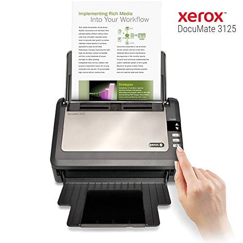 Xerox DocuMate 3125 Duplex Color Document Scanner for PC and Mac from Xerox Scanners