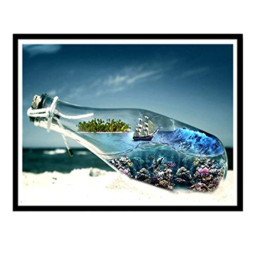 Shimmer Stitch (Loveso DIY 5D Diamond Painting by Number Kit Full Drill Scenic Diamond Painting)