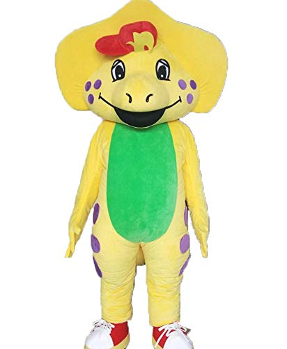 - Adult Size Lovely B.J. Barney Dinosaur Mascot Costume for Birthday Party Cartoon Character Costumes Carnival Dress